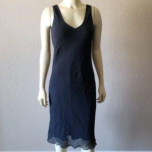 Banana Republic silk black polka dot Dress 2